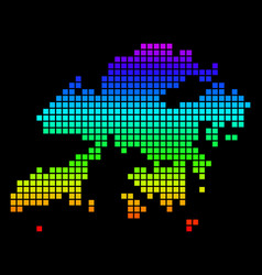 Spectrum pixel dotted hong kong map vector