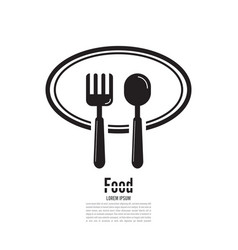 spoon and fork icon food icon design template vector image