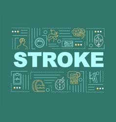 Stroke word concepts banner vector