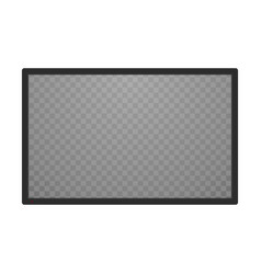 transparent television screen vector image