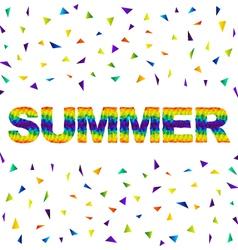 triangular summer vector image