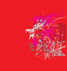 Tropical jungle red vector