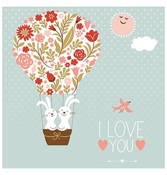 Valentines day or wedding card vector