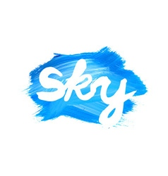 Watercolor sky badges vector image