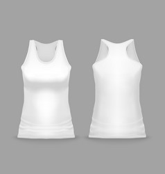 white sport tank top female vector image