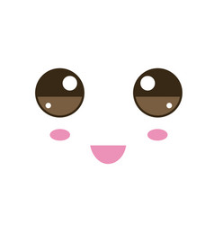 with kawaii faces vector image