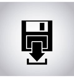 arrow download file icon vector image