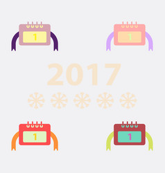 Collection of new year calendar vector