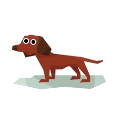 Dachshung Brown Dog vector image