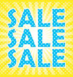 pop art sale poster vector image