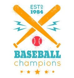 baseball grunge paint vector image vector image