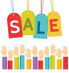 Business concept - sale price labels vector