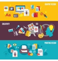 Graphic design banner set vector image vector image
