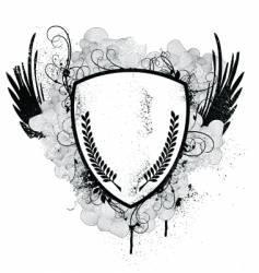 grunge crest vector image vector image