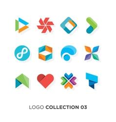 logo collection 03 vector image