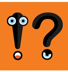 Question Mark and Exclamation Point vector image vector image