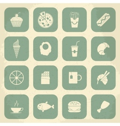Retro Food Icons vector image vector image