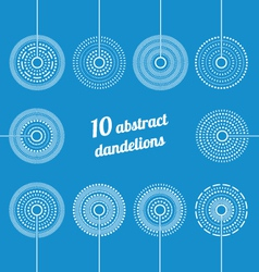 Set of Abstract Dandelions vector image