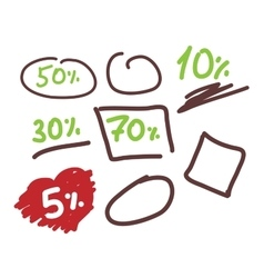 Template Doodle sale For layout business vector image vector image