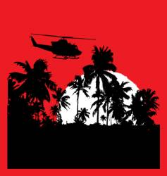 tropical heat with choppa vector image vector image