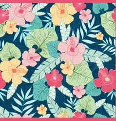 tropical summer hawaiian seamless pattern vector image vector image