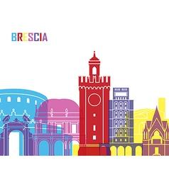 Brescia skyline pop vector image vector image
