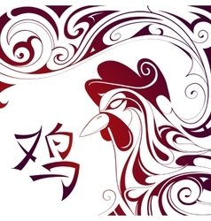 Chinese New Year Rooster symbol vector image vector image