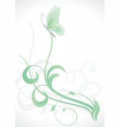 grass and butterfly vector image vector image