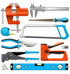 hand tools icons vector image vector image