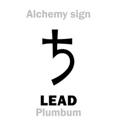 alchemy lead plumbum vector image
