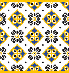 Black and yellow mediterranean seamless tile vector