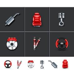 Car parts 2 vector image vector image