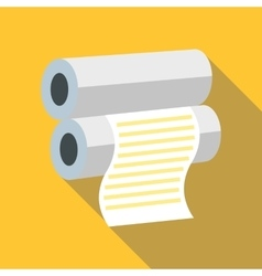 Fax paper icon flat style vector image