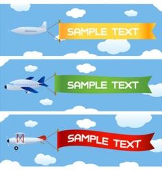 planes with message vector image