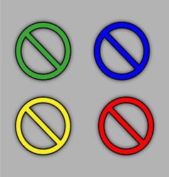 Sign ban set vector image vector image