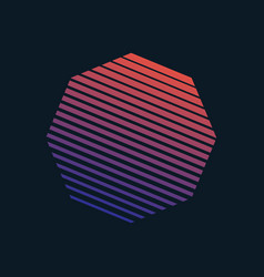80s retro style striped shape vector