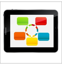 Abstract design Tablet for different business vector image