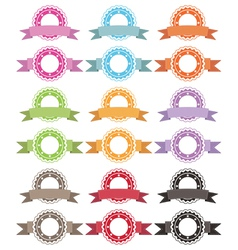 badges and ribbons vector image