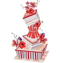 Big wedding cake vector
