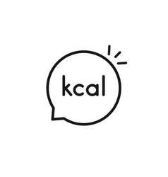 black simple thin line kcal bubble vector image
