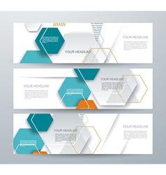 brochure template design with paper hexagones vector image