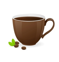 Brown cup coffee vector