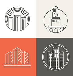 buildings and houses logos vector image vector image