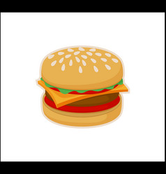 burger icon template isolated on white background vector image
