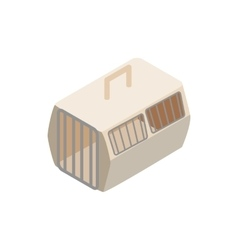 Cage for animals icon isometric 3d style vector