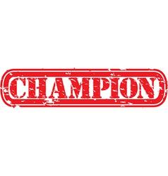 Champion stamp vector image