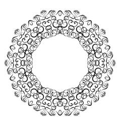 Circullar border frame o vector