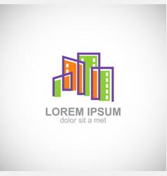 cityscape building town logo vector image