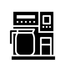 Coffee maker coffee related solid style vector