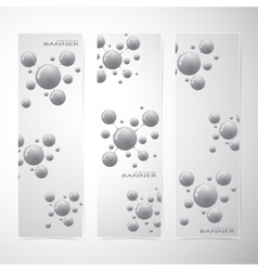 Collection vertical banner design Molecule and vector image